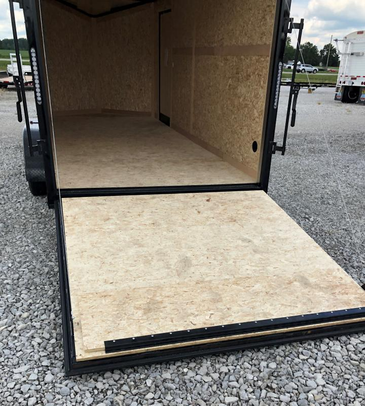 2021 Stealth 7x16 Titan 7k White/black Blackout Enclosed Trailer