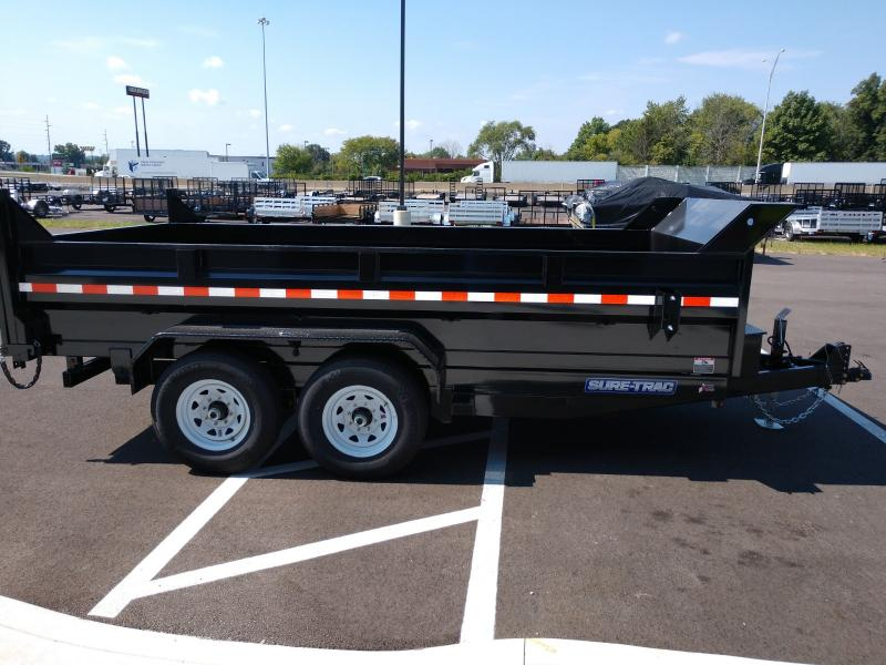 2021 Sure-trac 7'x16' Scissors Dump 14k Dump Trailer