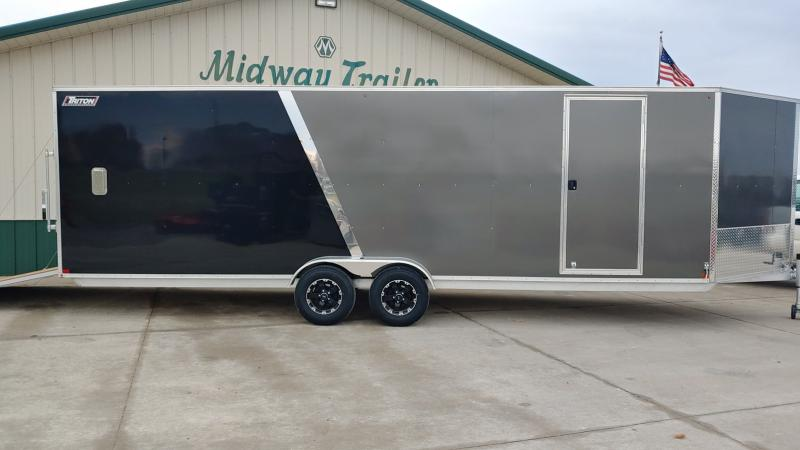 2020 Triton Damaged 7x24+5 Xt 7k Charcoal/black Enclosed Trailer