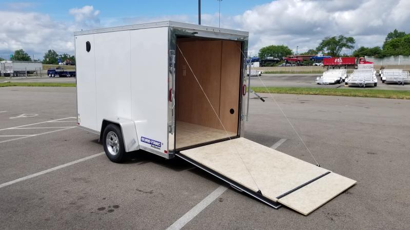 2021 Sure-trac 6'x10' 3k White Enclosed Trailer
