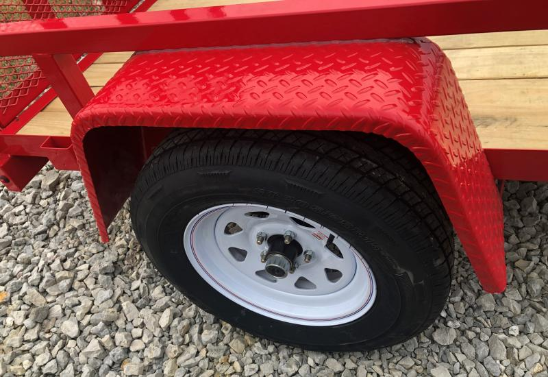 2019 Sure-trac 5x 8 Tube Top 3k Red Showroom Trailer Utility Trailer