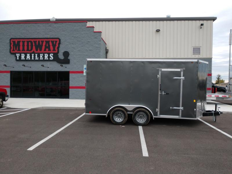 "2021 Interstate 7'x14'+6"" Hgt 7k Charcoal Enclosed Trailer"