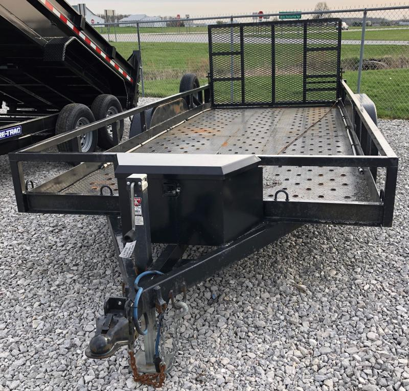 2012 Integrity 7x18 7k Steel Deck Utility W/ Winch Utility Trailer