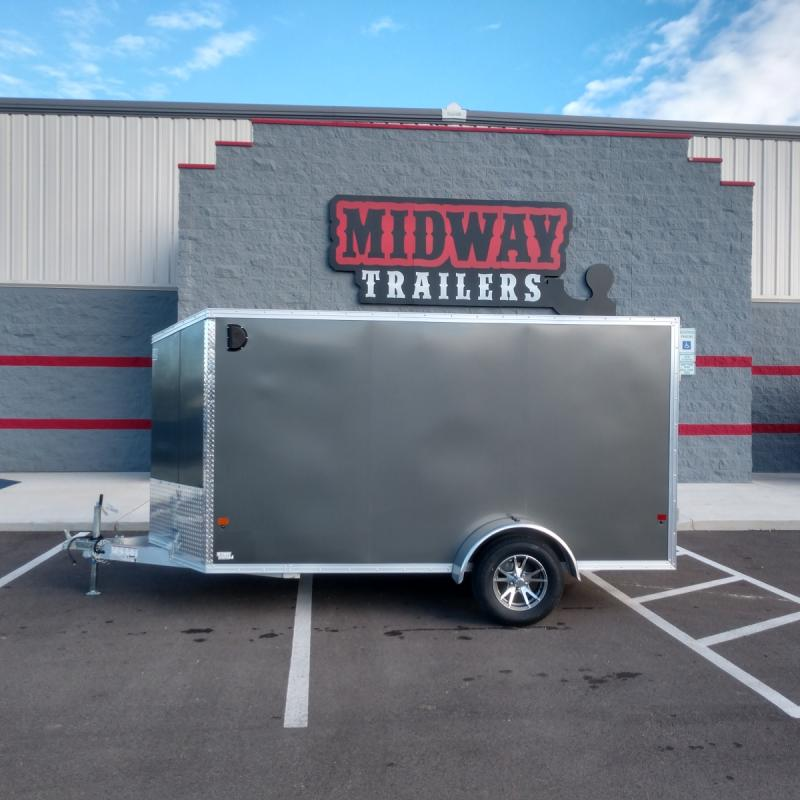 2020 Ez Hauler 6'x12' Alum 3k Charcoal Enclosed Trailer