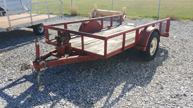 1992 Texas-bragg 5x10 Pipe Top 3k Tilt Utility Trailer