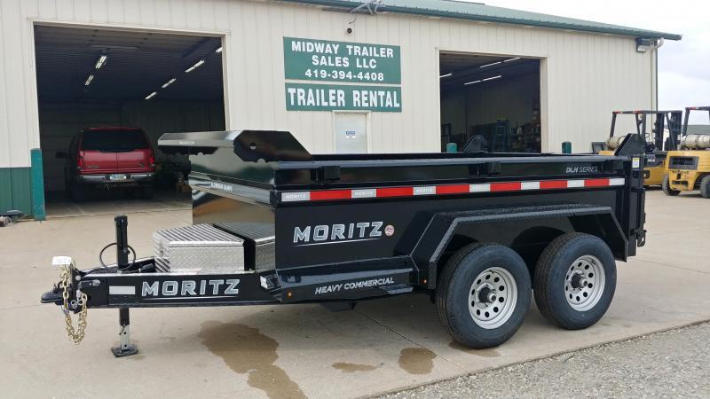 2021 Moritz International 6'X10' DUMP 10K SINGLE RAM Dump Trailer
