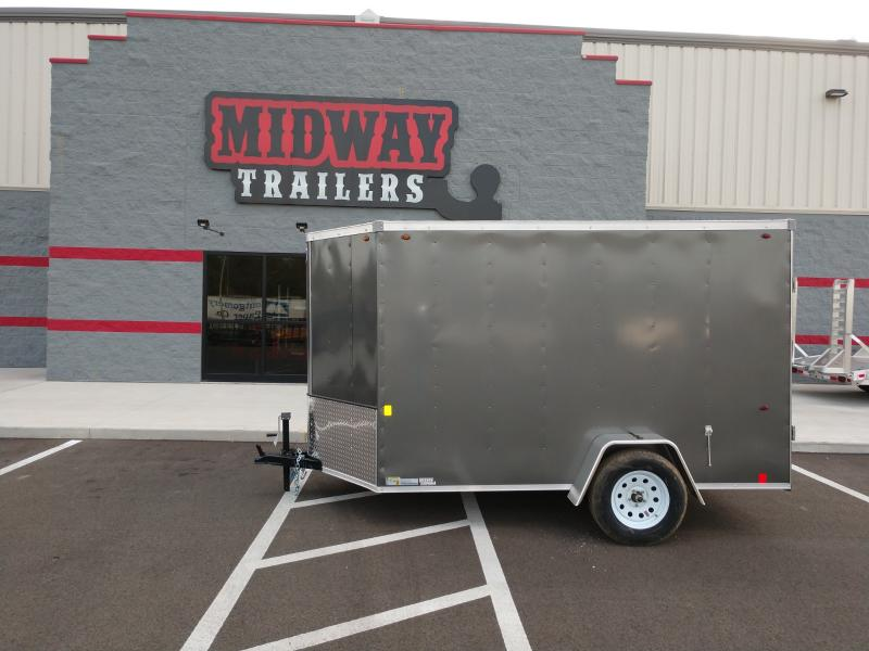 2021 Interstate 6'x12' 3k Charcoal Barn Door Enclosed Trailer