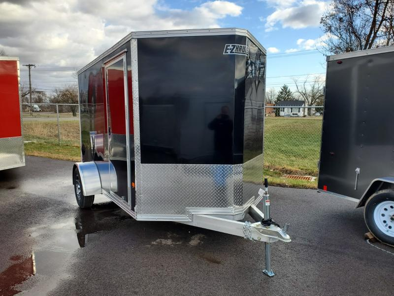 2020 Ez Hauler 6'x10' Alum 3k Black Enclosed Trailer