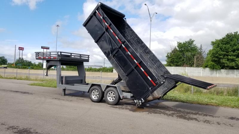 2018 B Wise 7'x16' Gn Ultimate Dump 16.8k Dump Trailer