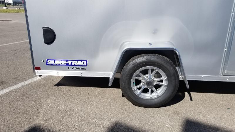 2021 Sure-trac 6'x12' 3k Silver Enclosed Trailer