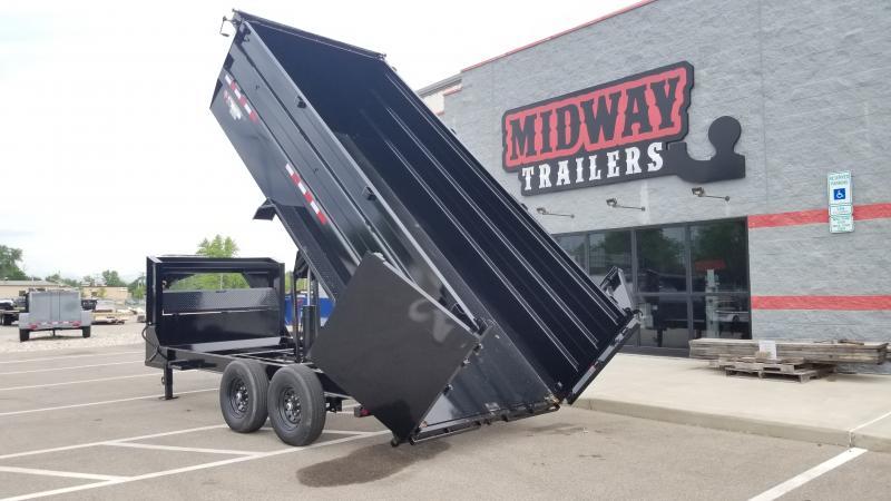 2021 Pj Trailers 7'x16' Gn 4' High Side 15680 Gvwr Dump Trailer