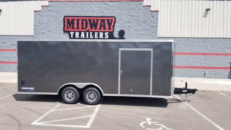 2021 Sure-trac 8.5'x20' Charcoal Car Hauler 10k Enclosed Trailer