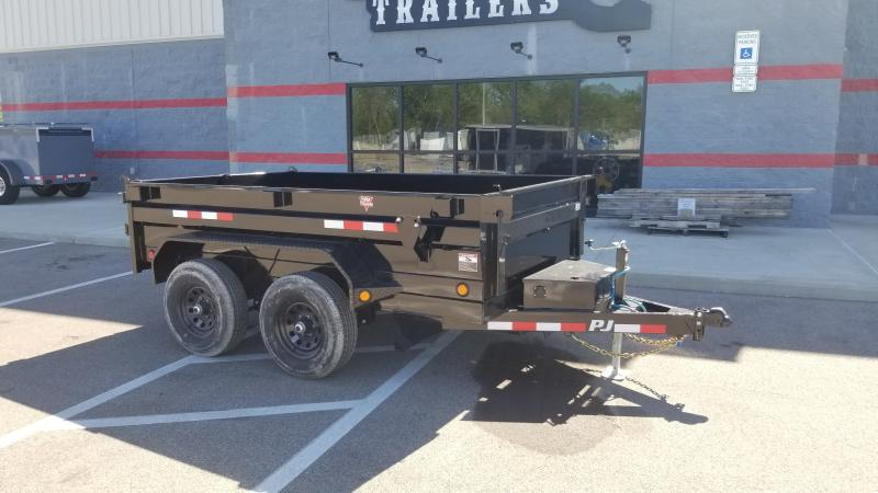 2022 Pj Trailers 6'x10' Single Ram 10k Dump Trailer