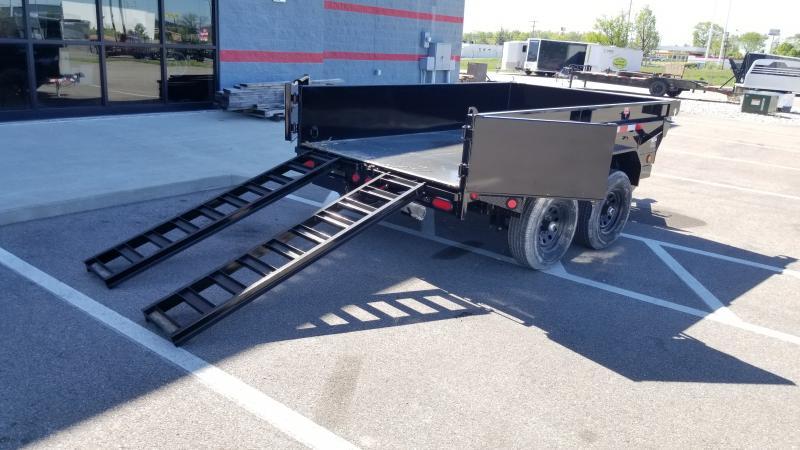2022 Pj Trailers 6'x10' Single Ram 10k Dump Trailer