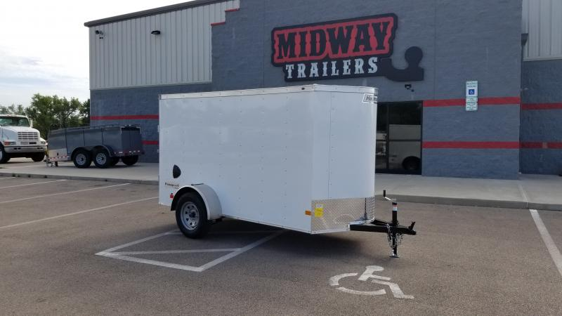 2021 Haulmark 5'x10' 3k White Enclosed Trailer