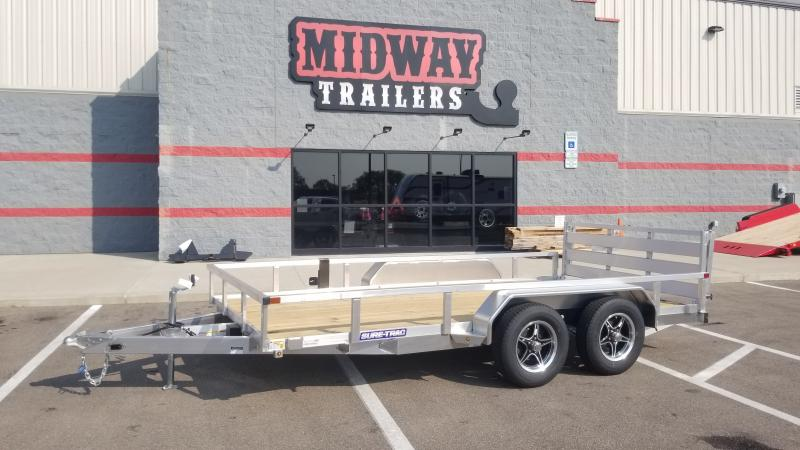 2021 Sure-trac 7'x16' Alum Tube Top 7k Utility Trailer