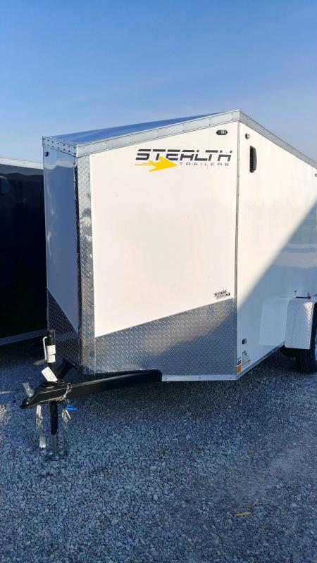 2020 Stealth 6x10 Titan 3k White Barn Doors Enclosed Trailer