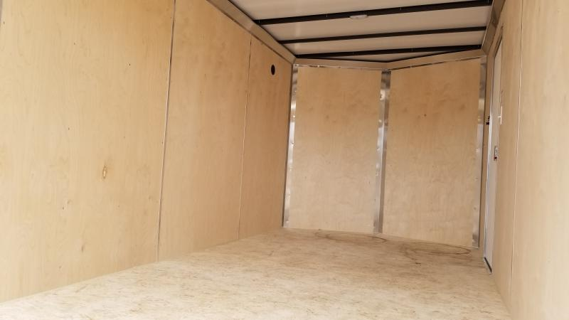 2021 Sure-trac 7'x16' 7k White Enclosed Trailer