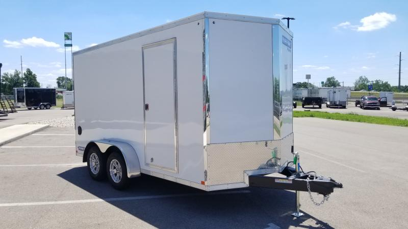 2021 Sure-trac 7'x16' 7k White Enclosed Trailer
