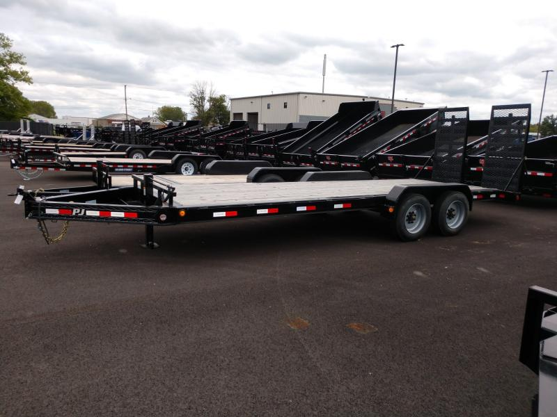 2019 Pj Trailers 7'x22' Equipment 20k Equipment Trailer