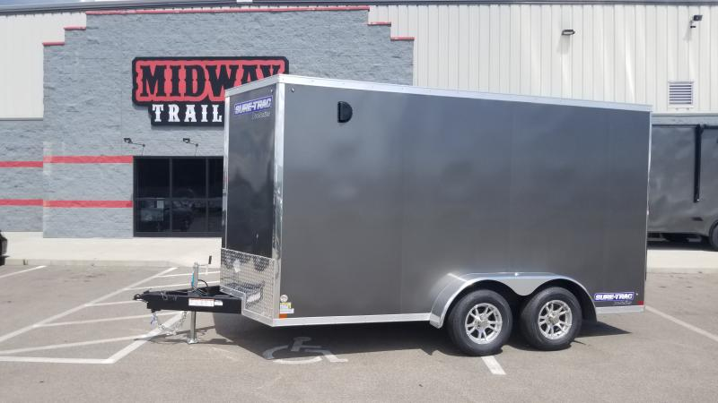 """2020 Sure-trac 7'x14'+6"""" Hgt 7k Charcoal Enclosed Trailer"""