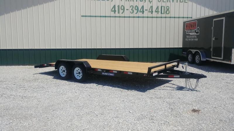 2020 Sure-trac 7x18 Wood Deck Ch 7k Car Hauler Trailer