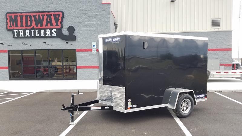 2019 Sure-trac 6'x10' 3k Black Enclosed Trailer