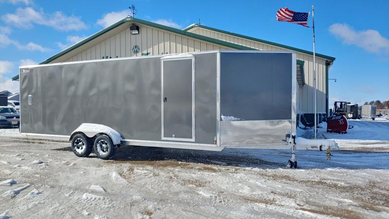 2020 Triton Damaged 7'x22'+5' Xt 6k Charcoal Enclosed Trailer