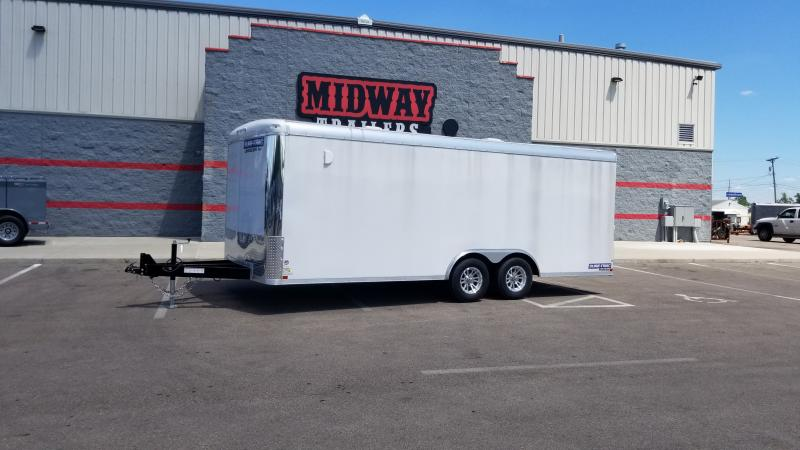 2019 Sure Trac 8.5'x20' Landscape Pro 10k White Enclosed Trailer