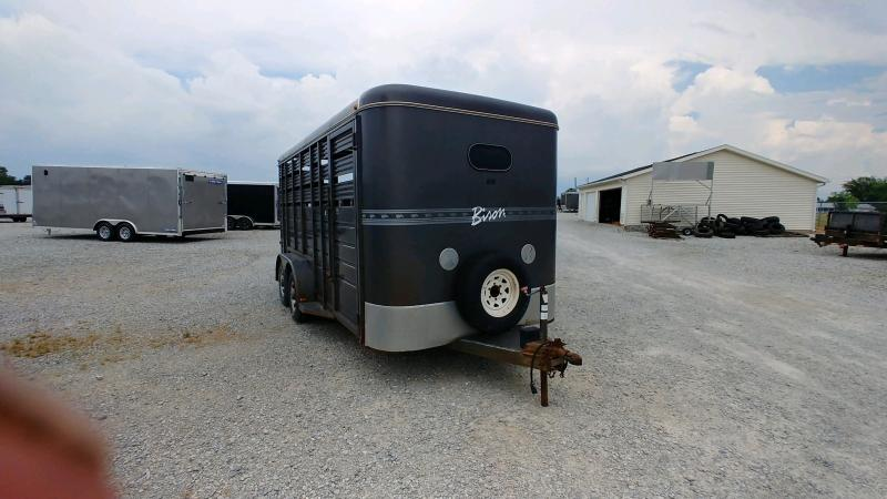 1999 Bison 7x16 7' Stock Livestock Trailer