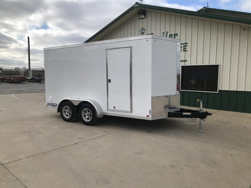 2021 Sure-trac 7x14 Psw 7k White Enclosed Trailer