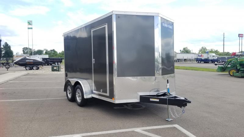 2020 Sure-trac 7'x12' 7k Charcoal Enclosed Trailer