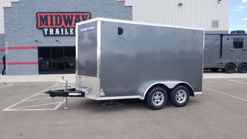 2020 Sure-trac 7'x12' 7k Charcoal Enclosed Trailer