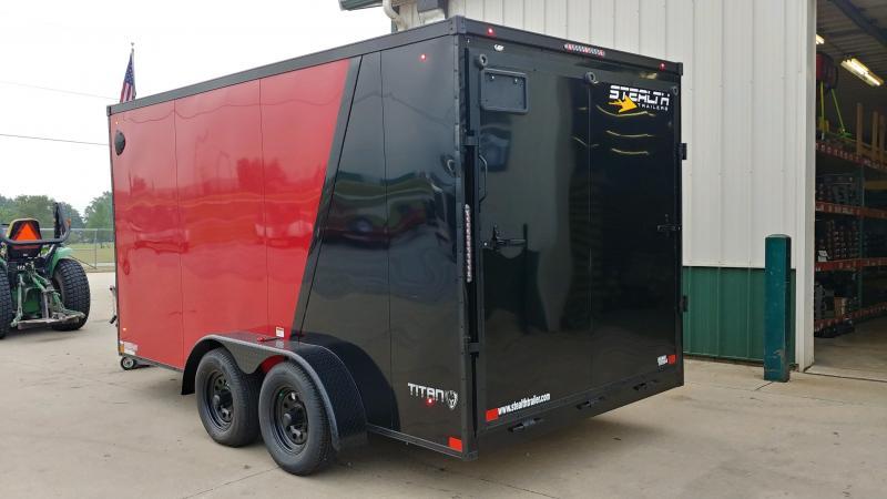 2021 Stealth 7x14 Titan 7k Red/black Enclosed Trailer