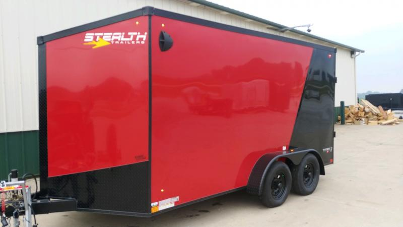 2021 Stealth 7x14 Titan 7k Red/black Enclosed Trailer