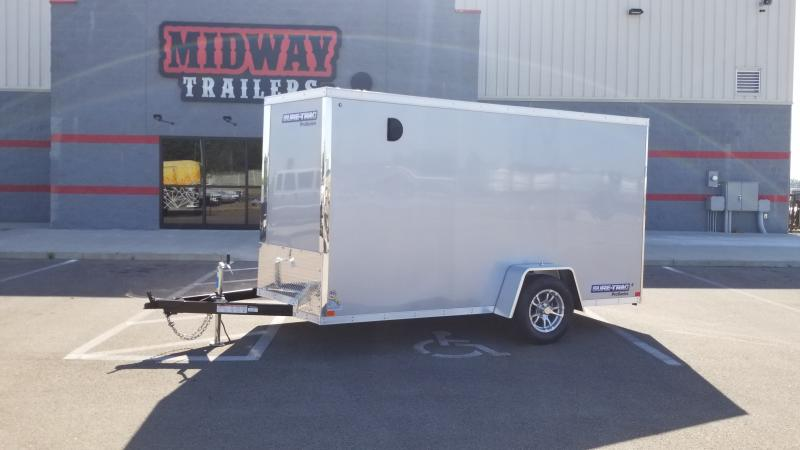 2021 Sure-trac 6x12 Pro Series Wedge Cargo 3k Silver Fro Enclosed Trailer