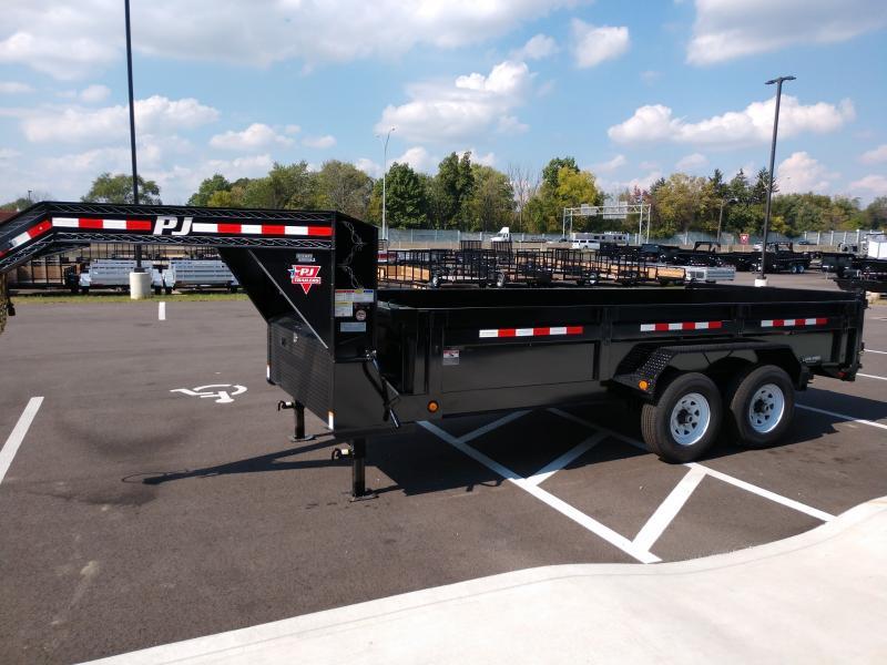 2019 Pj Trailers 7'x16' Gn Low Pro Dump 14k Dump Trailer