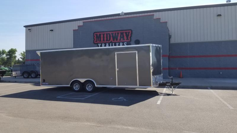 2020 Sure-trac 8.5'x24' 10k Ch Charcoal Enclosed Trailer