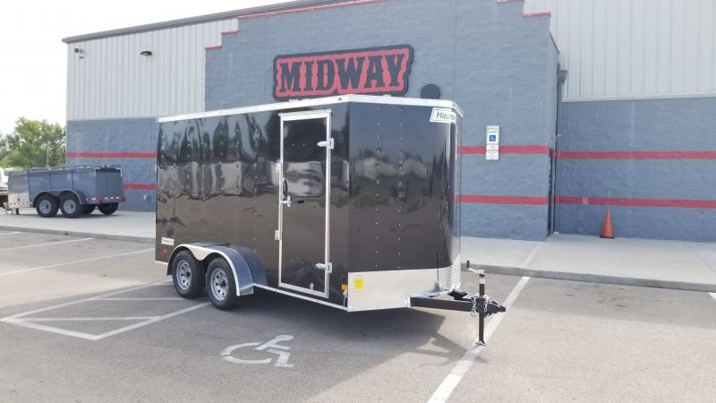 "2021 Haulmark 7'x14'+6"" Hgt 7k Black Enclosed Trailer"
