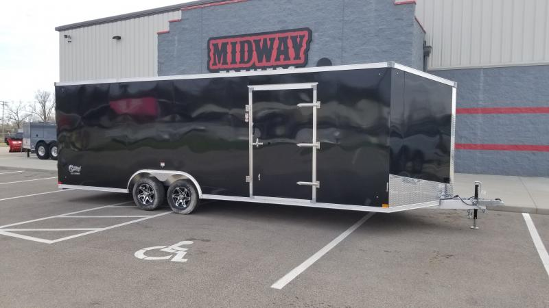 "2022 Stealth 8.5'x24'+6"" Cobra 10k Black Enclosed Trailer"