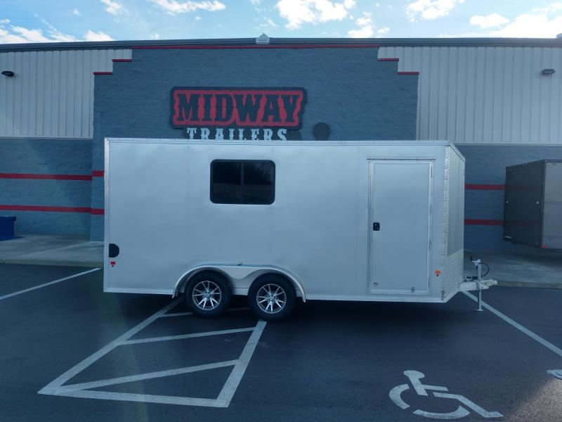 2020 Ez Hauler 7.5'x16' Alum 7k Silver Enclosed Trailer