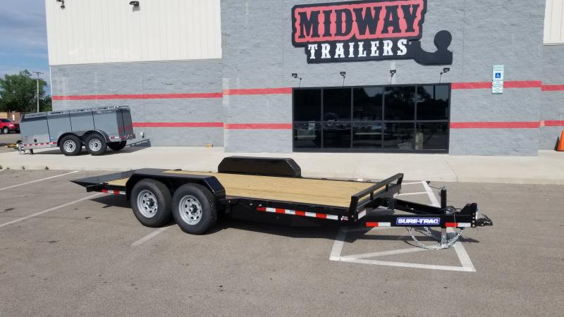 2021 Sure-trac 7'x18' Tilt Bed Equipment 14k Equipment Trailer