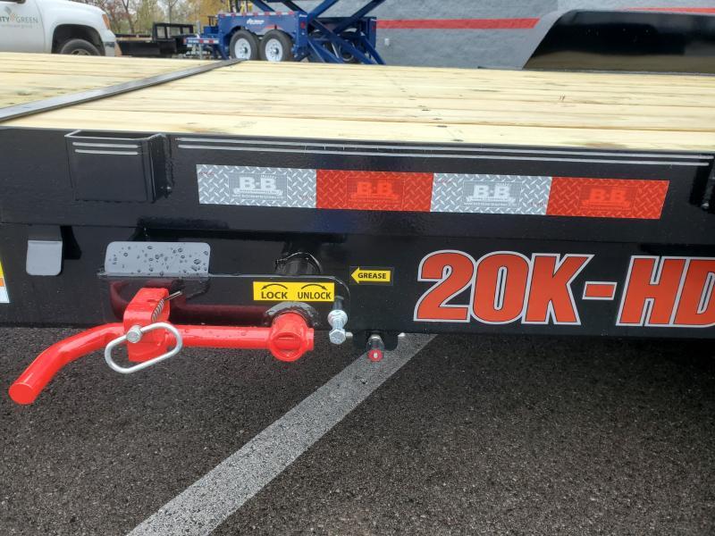 2020 B-b Trailers 7'x16'+8' Tilt 20k Equipment Trailer