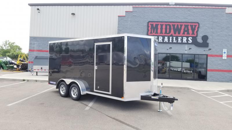 2020 Sure-trac 7'x16' 7k Black Enclosed Trailer