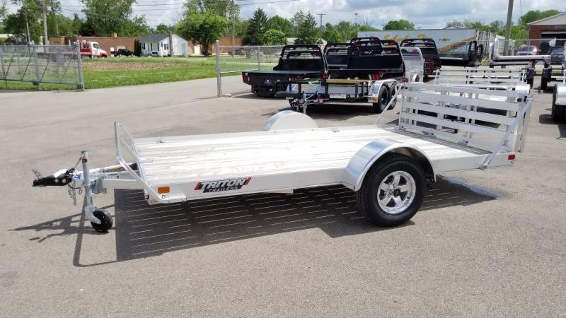 2020 Triton 7'x12' Alum 3k Wooddeck Utility Trailer