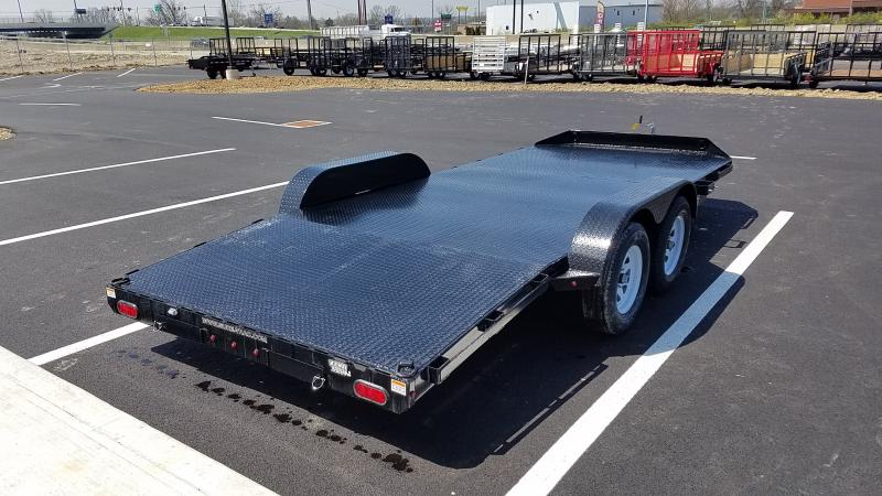 2021 Sure-trac 7'x18' Steel Deck Ch 7k Car Hauler Trailer