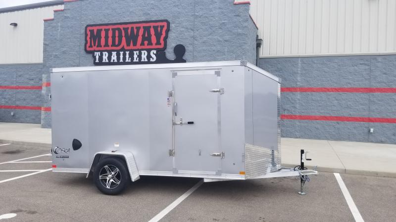 2022 Stealth 6'x12' Cobra 3k Silver Enclosed Trailer