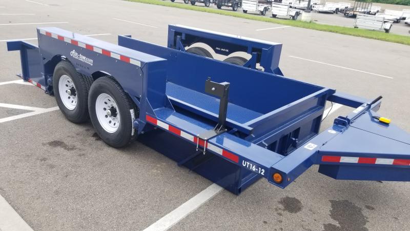 "2021 Air-tow 75""x16' Drop Deck 16k Equipment Trailer"