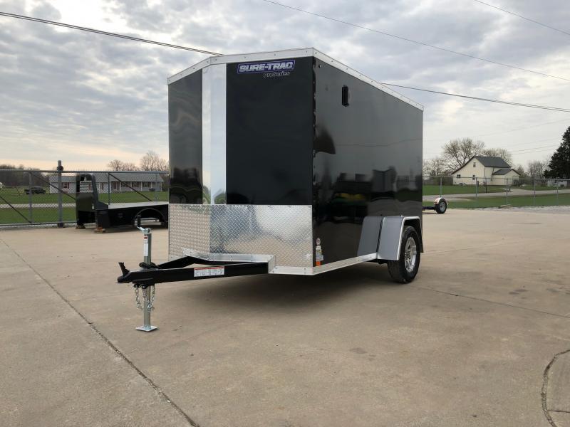 2021 Sure-trac 6'x10' Psw 3k Black Enclosed Trailer