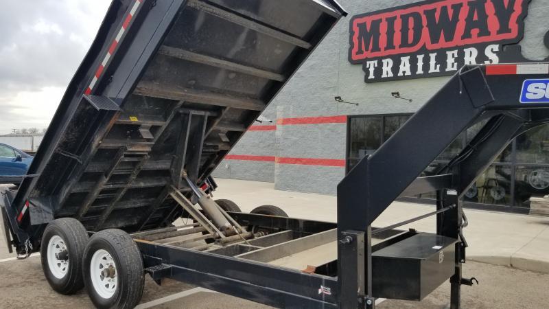 2016 Sure-trac 7'x14' Gn Scissor 14k Dump Trailer